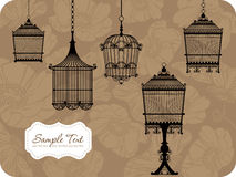 Vintage bird cages Stock Images