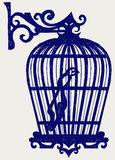 Vintage bird cages. Doodle style Stock Photo
