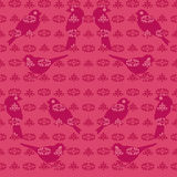 Vintage bird wallpaper Royalty Free Stock Images