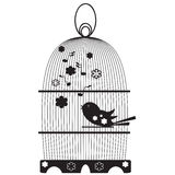 Vintage birdcages with birds Royalty Free Stock Images