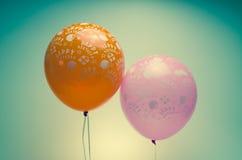 Vintage birthday balloons Stock Photo