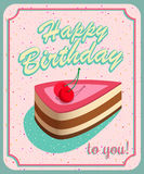 Vintage Birthday Card. Grunge effects can be. Vintage Birthday Card - Vector EPS10. Grunge effects can be easily removed for a brand new, clean sign Stock Photo