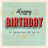 Vintage Birthday Card. With a realistic used and worn effect that can be easily removed for a clean, brand new card Stock Images