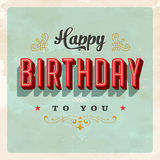 Vintage Birthday Card. With a realistic used and worn effect that can be easily removed for a clean, brand new card Stock Image