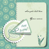 Vintage Birthday Card. Scrapbooking style. Royalty Free Stock Photos