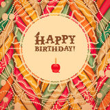 Vintage birthday card Stock Images