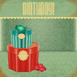 Vintage Birthday Card Royalty Free Stock Photos