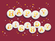 Vintage Birthday Card - Vector EPS10 Stock Photo