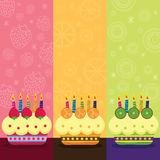 Vintage Birthday Fruits Cake Royalty Free Stock Image
