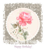 Vintage birthday  greeting card Royalty Free Stock Photos