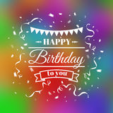 Vintage birthday typography card Royalty Free Stock Photography