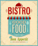 Vintage Bistro Poster. Vector illustration Royalty Free Stock Photography