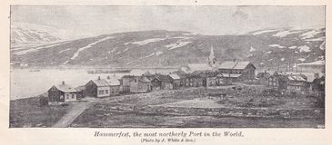 Free Vintage Black And White Photo Of Hammerfest, The Most Northerly Port In The World 1900s Stock Photos - 167515443