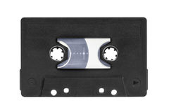 Vintage Black Audio Cassette Isolated Royalty Free Stock Photography