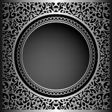 Vintage black background with swirly ornament. Decorative frame, elegant decoration for packaging design Royalty Free Stock Photos