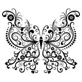 Vintage black butterfly Royalty Free Stock Images