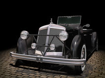 Vintage black car Royalty Free Stock Images