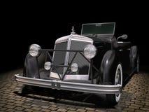 Vintage black car vector illustration