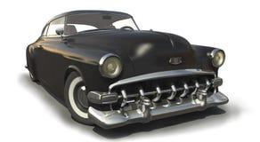 Vintage Black car 3D model. Vintage black car - Shiny old 3D model Stock Images