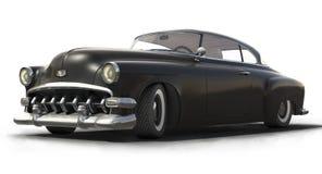 Vintage Black car 3D model. Vintage black car - Shiny old 3D model Stock Image