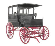 Vintage black carriage isolated. Royalty Free Stock Photos