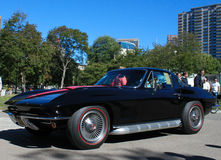 Vintage Black Chevrolet Corvette Stock Photography