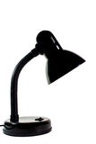 Vintage black desk lamp isolated Stock Images
