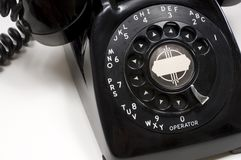 Vintage Black Desk Phone royalty free stock image