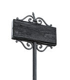 Vintage black empty street board isolated Royalty Free Stock Images
