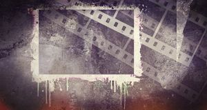 Vintage black film strip frame with dripping. Design element. Vintage black film strip frame with dripping Royalty Free Stock Images