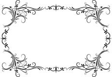 Vintage black frame with empty place for your text or other desi Stock Images