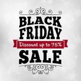 Vintage Black friday discount sale business poster Stock Photo