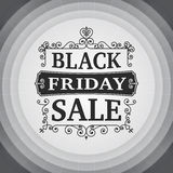 Vintage Black friday sale business poster Stock Photo