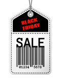 Vintage Black Friday sale tag Stock Images
