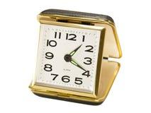 Vintage, Black, Key Wound, Folding Travel Alarm Clock Stock Images