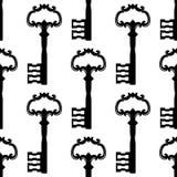 Vintage black keys seamless pattern Royalty Free Stock Image
