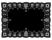 Vintage Black Lace Doily Place Mat Royalty Free Stock Photography