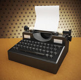 Vintage Black, Manual Typewriter Stock Images