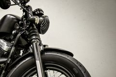 Vintage Motorcycle detail. The vintage black Motorcycle detail royalty free stock image