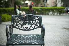 Vintage black old metal chair Royalty Free Stock Image
