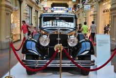 Vintage black passenger car AUDI  Horch Stock Photography