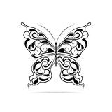 Vintage black pattern in a shape of a butterfly Royalty Free Stock Photo