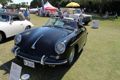 Vintage black Porche convertible at boca raton resort Stock Photo