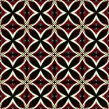 Vintage black red white oriental kaleidoscope background with ci Royalty Free Stock Image