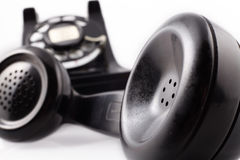 Vintage black rotary phone Stock Images