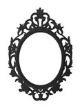 Vintage black round frame isolated on white background and space for text Stock Photo