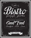 Vintage black school board bistro menu Royalty Free Stock Image