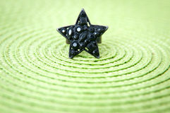 Vintage black star ring Stock Images