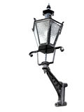 Vintage black street lamp isolated on white Royalty Free Stock Photos