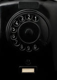 Vintage black telephone. Close up of the dial plate of a vintage black telephone Royalty Free Stock Photos